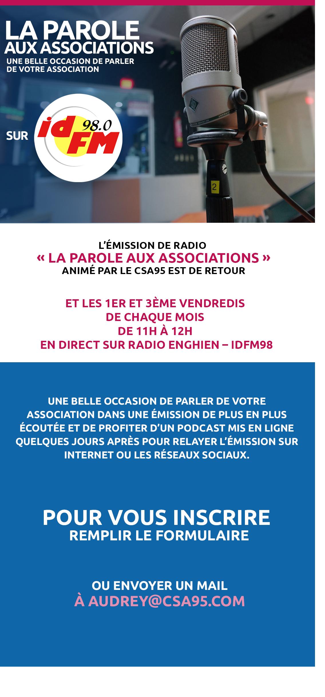 Vous inscrire à l'émission radio pour les associations